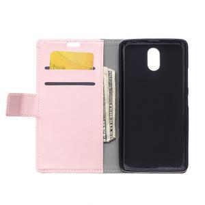 GX koženkové peňaženkové na mobil Lenovo Vibe P1m - růžové - 3
