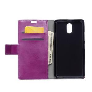 GX koženkové peňaženkové na mobil Lenovo Vibe P1m - fialové - 3