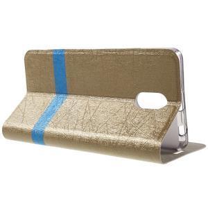 Klopové puzdro pre mobil Lenovo Vibe P1m - zlaté - 3