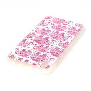 Softy gelový obal na mobil Lenovo S850 - růžoví sloni - 3
