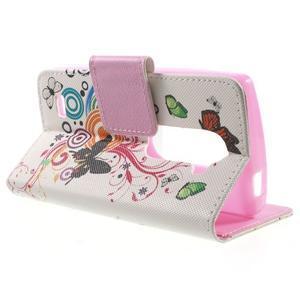 Emotive knížkové puzdro pre mobil LG Leon - motýľe - 3