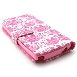 Style peňaženkové puzdro pre LG Leon - sloni - 3