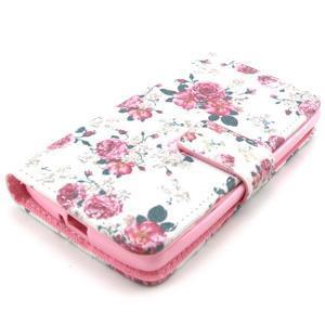 Style peňaženkové puzdro pre LG Leon - kvetiny - 3