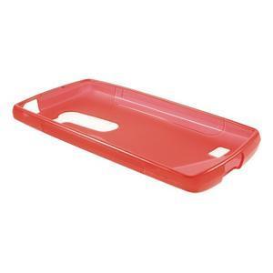 S-line gélový obal pre mobil LG Leon - červený - 3