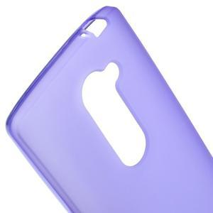 Matný gélový obal pre mobil LG Leon - fialový - 3