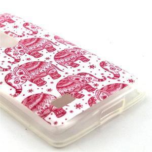 Pictu gélový obal pre LG Leon - ružoví sloni - 3