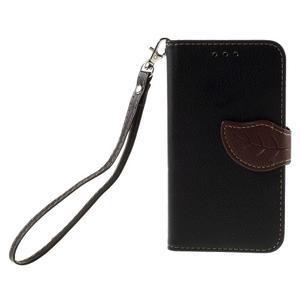 Leaf PU kožené pouzdro na mobil LG Leon - černé - 3