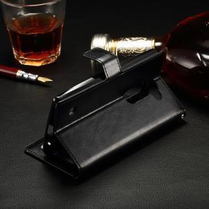Peňaženkové PU kožené puzdro na LG Spirit - čierne - 3