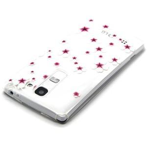 Transparentný gélový obal na mobil LG Spirit - kvietky čerešní - 3
