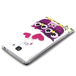 Transparentný gélový obal pre mobil LG Spirit - zamilované malej sovy - 3