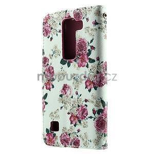 Peňaženkové puzdro pre LG Spirit - ruže - 3