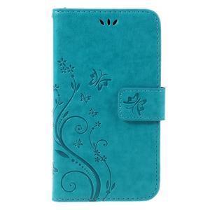 Butterfly PU kožené puzdro pre Microsoft Lumia 640 - modré - 3