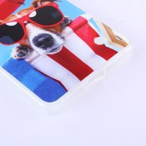 Softy gélový obal pre mobil Microsoft Lumia 640 LTE - psík so slnečníkom - 3