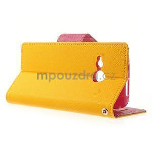 Style peňaženkové puzdro HTC One Mini 2 - žlté - 3