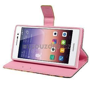 Obrazové peňaženkové puzdro na Huawei Ascend P7 - tulipány - 3