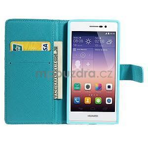 Obrazové peňaženkové puzdro na Huawei Ascend P7 - abstrakt - 3