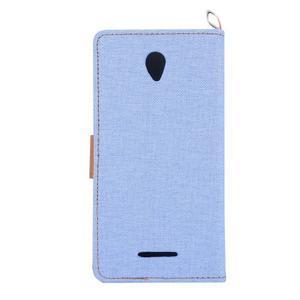 Jeans peňaženkové puzdro pre Lenovo A5000 - svetlo modré - 3