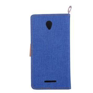 Jeans peňaženkové puzdro na Lenovo A5000 - tmavo modré - 3