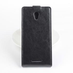 Flipové puzdro na mobil Lenovo A5000 - čierné - 3