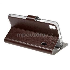 Hardy peňaženkové puzdro pre Lenovo A7000 a Lenovo K3 Note -  hnedé - 3