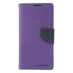 Fancy Peňaženkové puzdro pre Sony Xperia Z2 - fialové - 3