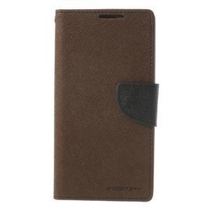 Fancy Peňaženkové puzdro pre Sony Xperia Z2 - hnedé - 3