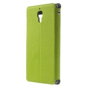 Root puzdro s okýnkem pre Xiaomi Mi4 - zelené - 3