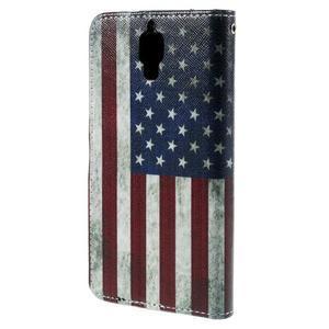 Cross peňaženkové puzdro na Xiaomi Mi4 - US vlajka - 3