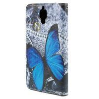 Cross peňaženkové puzdro na Xiaomi Mi4 - modrý motýl - 3/7