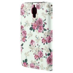 Cross peňaženkové puzdro pre Xiaomi Mi4 - kytičky - 3