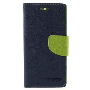 Mr. Fancy peňaženkové puzdro na Xiaomi Mi4 - tmavo modré - 3