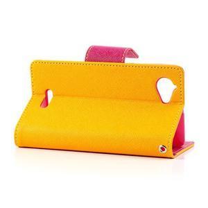 Mr. Fancy peňaženkové puzdro pre Sony Xperia L - žlté - 3