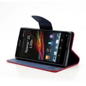Mr. Goos peňaženkové puzdro na Sony Xperia Z - červené - 3