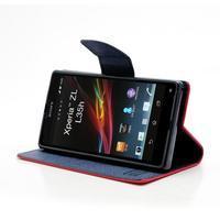 Mr. Goos peňaženkové puzdro na Sony Xperia Z - červené - 3/6