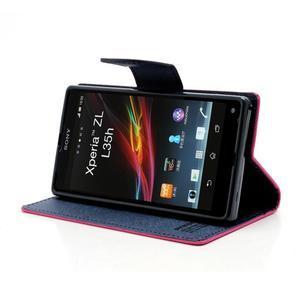 Mr. Goos peňaženkové puzdro pre Sony Xperia Z - rose - 3