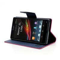 Mr. Goos peňaženkové puzdro pre Sony Xperia Z - rose - 3/7