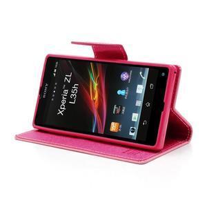 Mr. Goos peňaženkové puzdro na Sony Xperia Z - růžové - 3