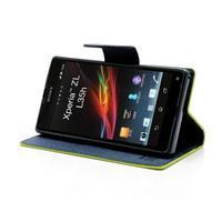 Mr. Goos peňaženkové puzdro na Sony Xperia Z - zelené - 3/6