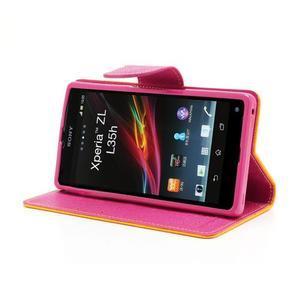 Mr. Goos peňaženkové puzdro pre Sony Xperia Z - žlté - 3