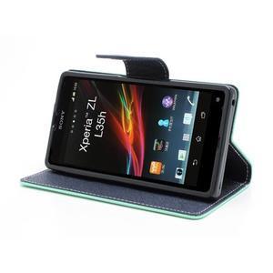 Mr. Goos peňaženkové puzdro na Sony Xperia Z - azurové - 3