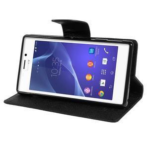 Mr. Goos peňaženkové puzdro na Sony Xperia M2 - čierné - 3