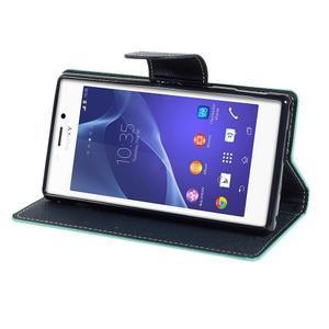 Mr. Goos peňaženkové puzdro na Sony Xperia M2 - azurové - 3