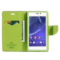 Mr. Goos peňaženkové puzdro pre Sony Xperia M2 - tmavo modré - 3/7