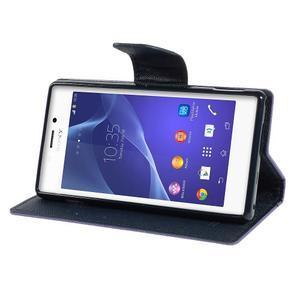 Mr. Goos peňaženkové puzdro pre Sony Xperia M2 - fialové - 3