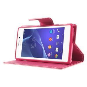 Mr. Goos peňaženkové puzdro na Sony Xperia M2 - růžové - 3