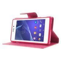 Mr. Goos peňaženkové puzdro na Sony Xperia M2 - růžové - 3/7