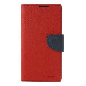 Fancy Peňaženkové puzdro pre Sony Xperia Z2 - červené - 3
