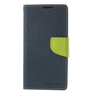 Fancy Peňaženkové puzdro pre Sony Xperia Z2 - tmavomodré - 3