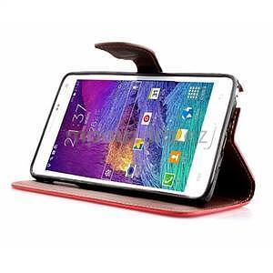 Peňaženkové puzdro s pútkom na Samsung Galaxy Note 4 - červené - 3