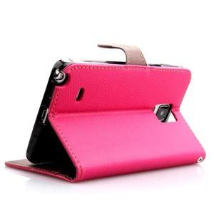 Peňaženkové puzdro s pútkom na Samsung Galaxy Note 4 - rose - 3